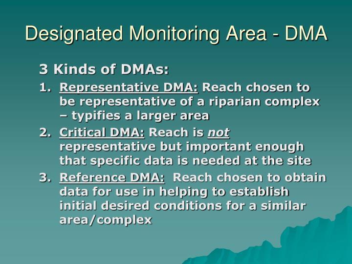 Designated Monitoring Area - DMA