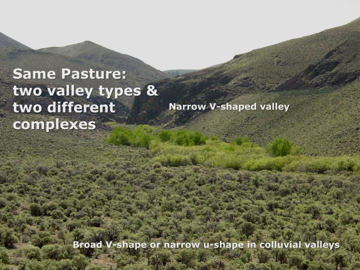 Same Pasture: two valley types & two different complexes