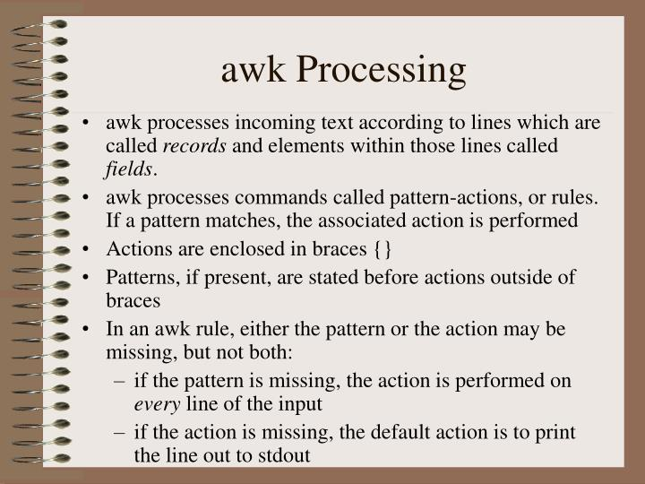awk Processing