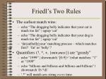 friedl s two rules