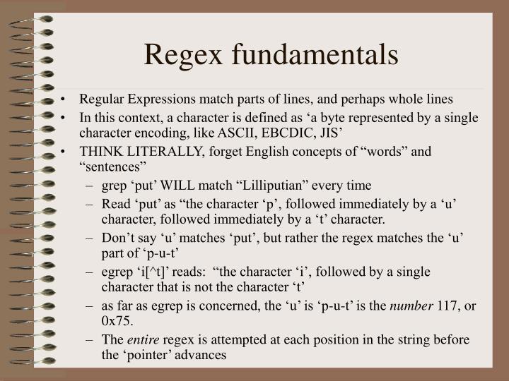 Regex fundamentals