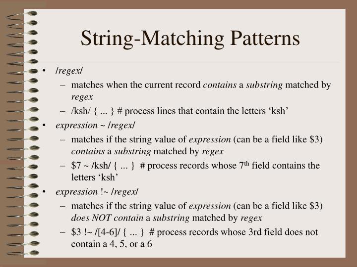 String-Matching Patterns