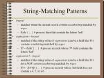 string matching patterns