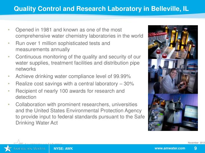 Quality Control and Research Laboratory in Belleville, IL
