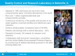 quality control and research laboratory in belleville il
