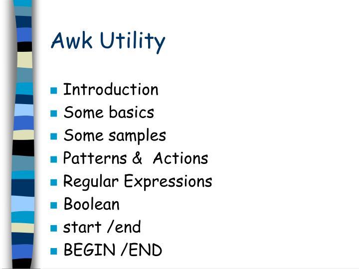 Awk Utility