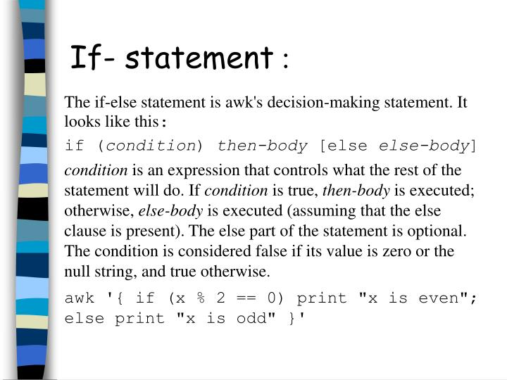 If- statement