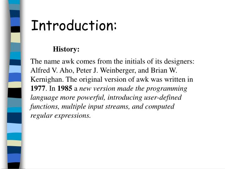 Introduction: