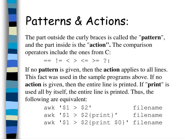 Patterns & Actions