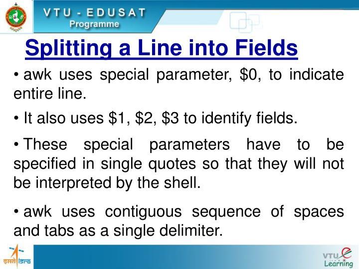 Splitting a Line into Fields
