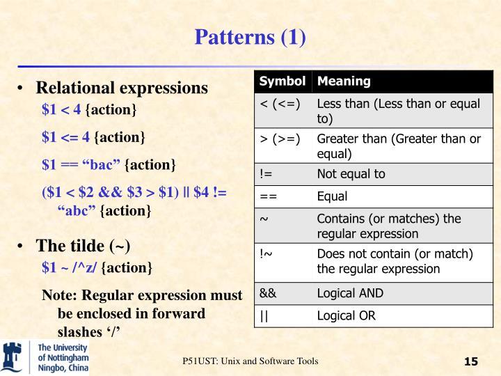 Patterns (1)