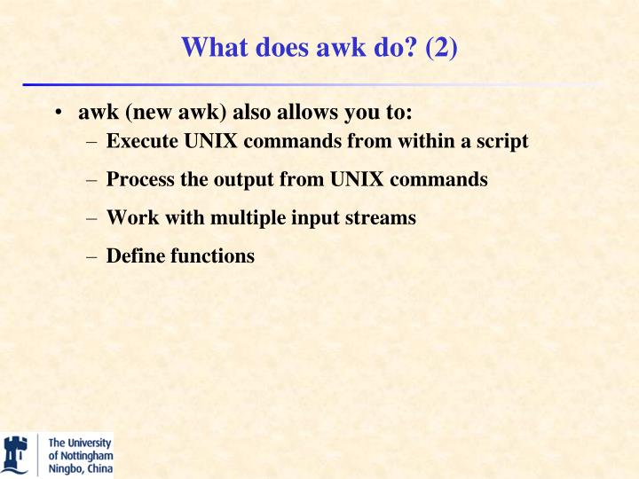What does awk do? (2)