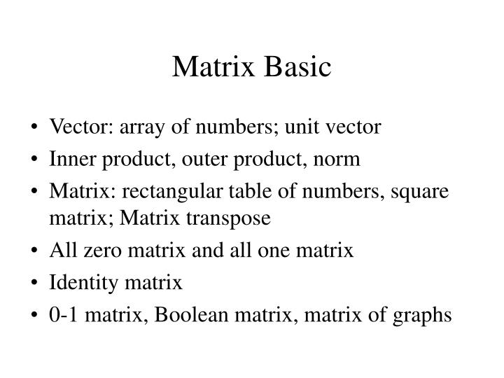 Matrix basic