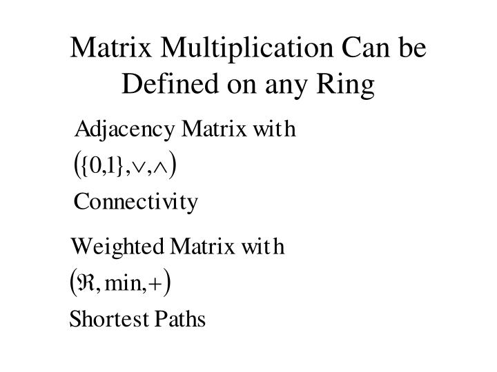 Matrix Multiplication Can be Defined on any Ring