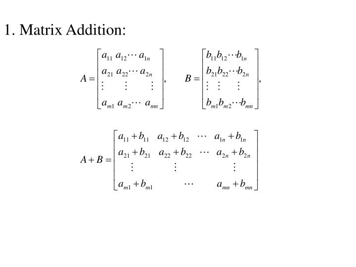 Matrix Addition: