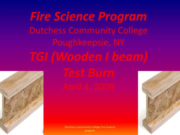 Fire Science Program