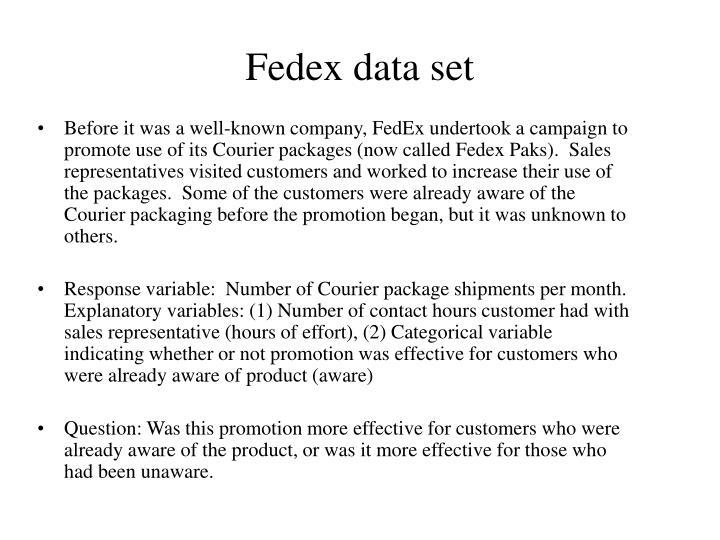 Fedex data set