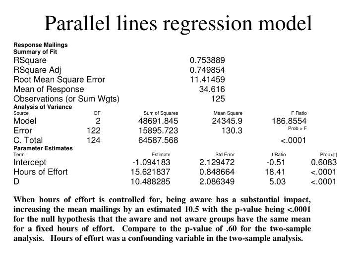 Parallel lines regression model