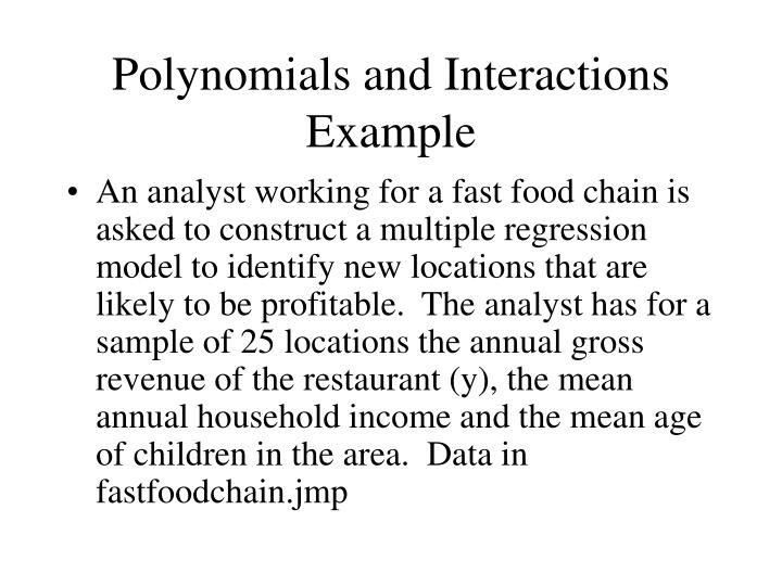 Polynomials and Interactions Example