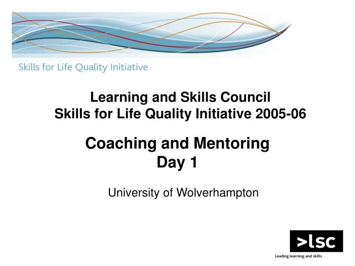 Coaching and mentoring day 1