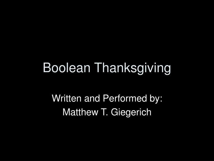 boolean thanksgiving