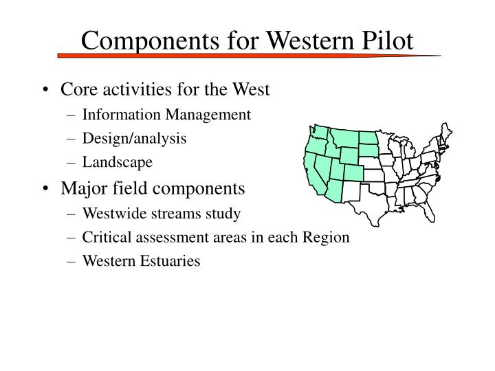 Components for Western Pilot