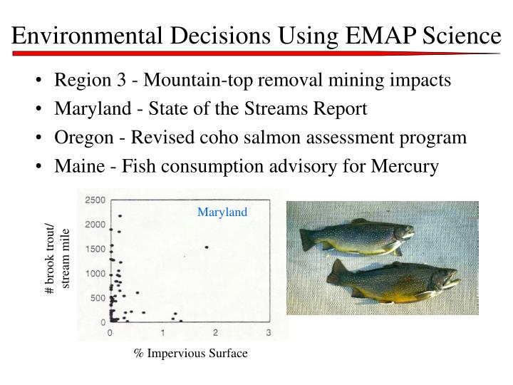 Environmental Decisions Using EMAP Science