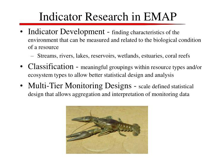 Indicator Research in EMAP