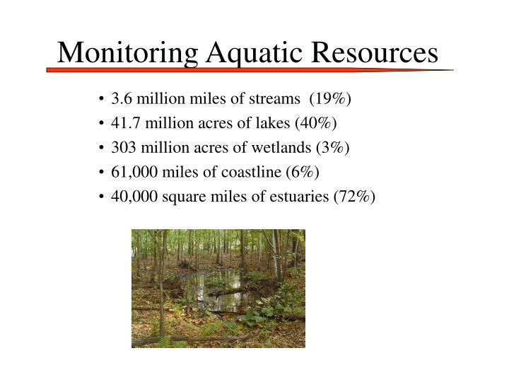 Monitoring Aquatic Resources
