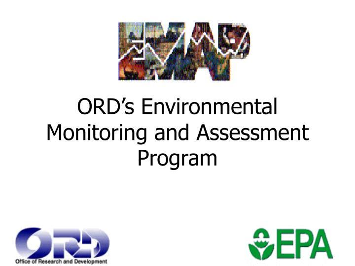 ORD's Environmental Monitoring and Assessment Program