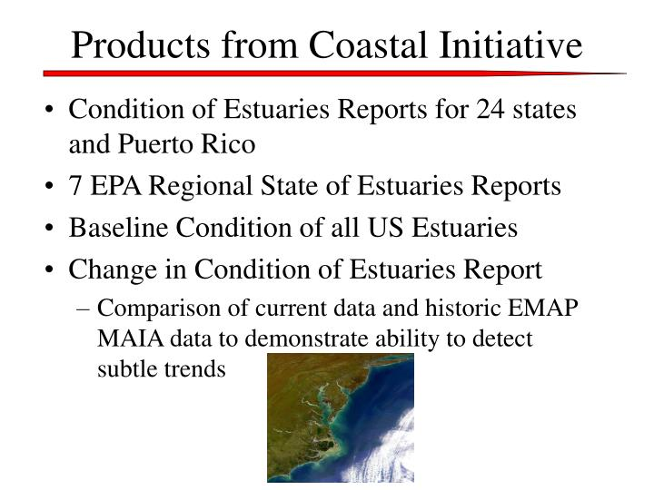 Products from Coastal Initiative