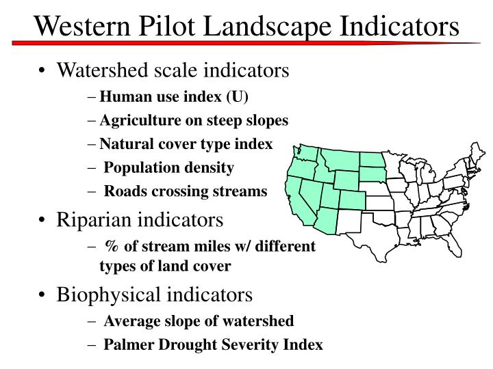 Western Pilot Landscape Indicators
