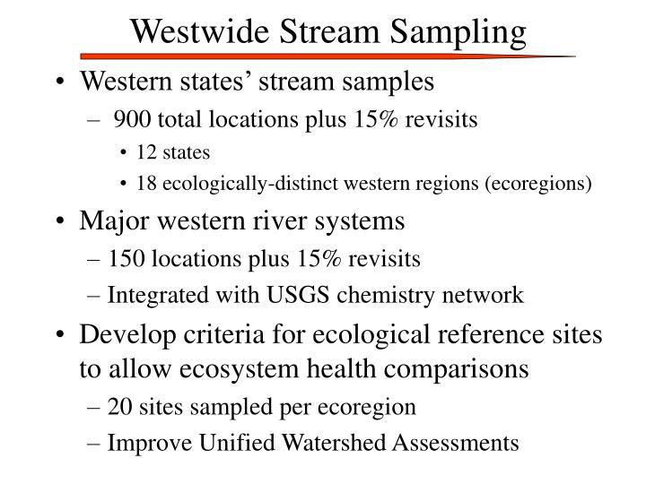 Westwide Stream Sampling