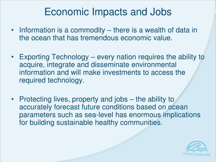 Economic Impacts and Jobs