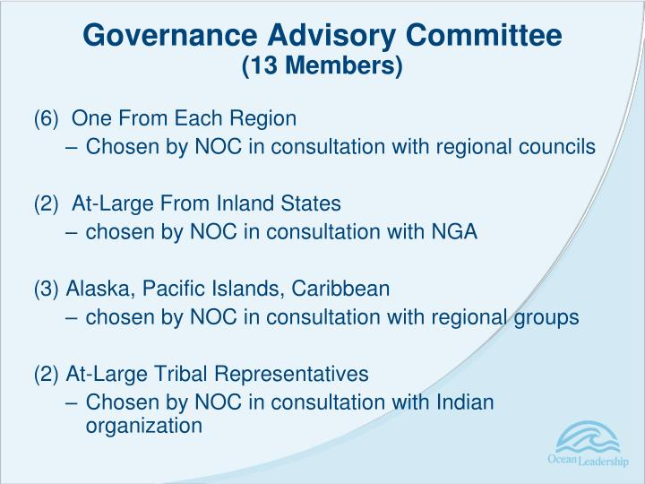 Governance Advisory Committee