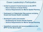 ocean leadership s participation