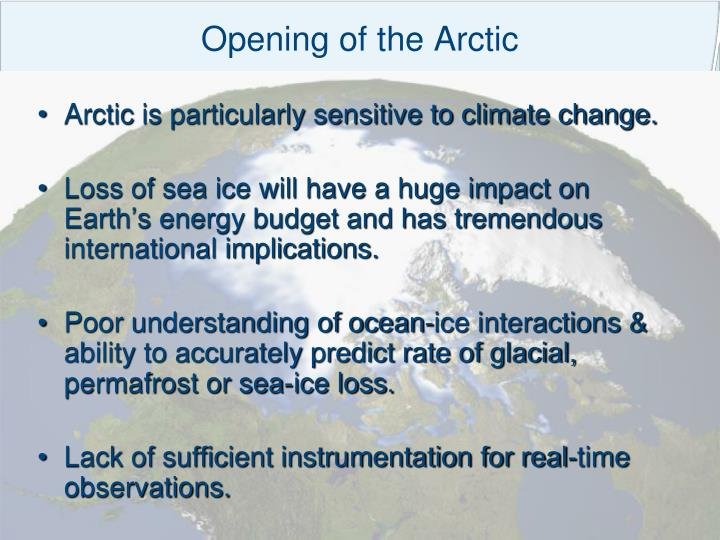Opening of the Arctic