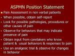 aspmn position statement
