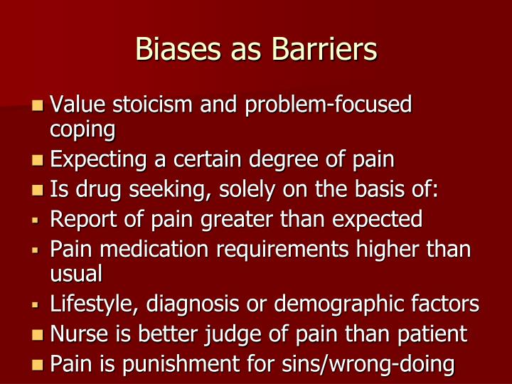 Biases as Barriers