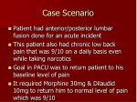 case scenario1