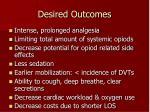 desired outcomes1