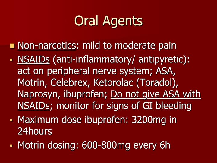 Oral Agents