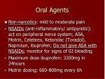 oral agents1