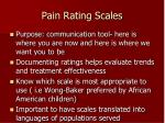 pain rating scales