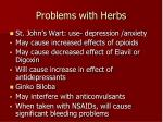 problems with herbs