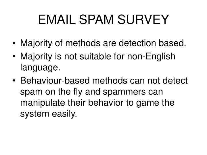 EMAIL SPAM SURVEY