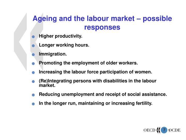 Ageing and the labour market – possible responses