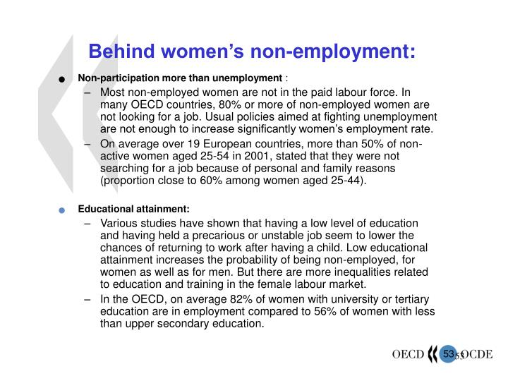 Behind women's non-employment: