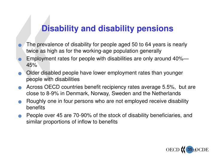 Disability and disability pensions