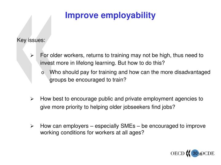 Improve employability